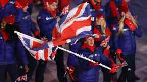 Lizzy Yarnold carried the flag for Britain