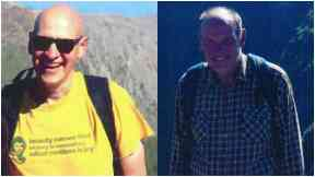 Missing: Alan Gibson and Neil Gibson have been missing since Thursday morning.
