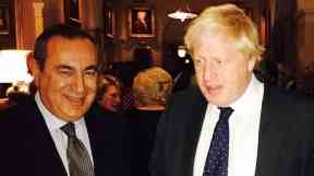Boris Johnson: Pictured with Joseph Mifsud last October.