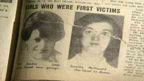 Victims: A newspaper appeal after the deaths of Pat Docker and Jemima McDonald.