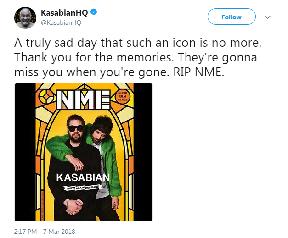Tribute from Kasabian.