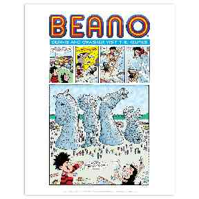 Beano: Dennis and Gnasher in the Kelpies.