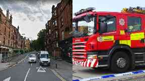 Glasgow: Around 30 firefighters battling flames.