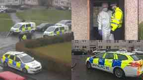 Castlemilk: There was a major police presence.