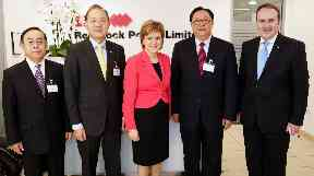 Red Rock: Nicola Sturgeon opens Edinburgh HQ in 2016.