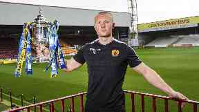 Curtis Main will lead the line for Motherwell against Aberdeen on Saturday.