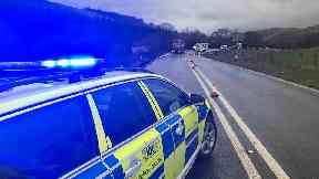 Lorry/HGV overturned on A76 near Mennock on 13/4/18
