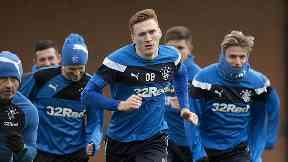 David Bates (centre) is leaving Rangers to join Hamburg SV.