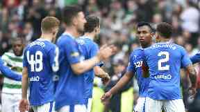 Greg Docherty and Alfredo Morelos were involved in an angry exchange at full-time after Rangers' heavy loss.