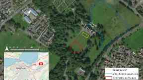 Site: The team are hopeful that they have found a burial site.