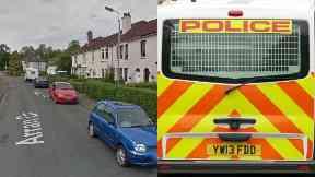Kirkcaldy: Police cordoned off street.