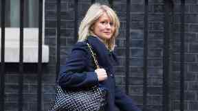 Heckled: Esther McVey faced a tough time at Holyrood.