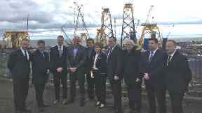 Yards: The First Minister visited the site in Methil.