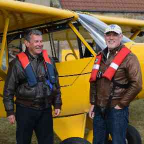 Archie Liggat and Pete Gilmour are two of the volunteers taking part in the project.