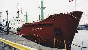 Waste: The MV Gardyloo used to dispose of solid waste.