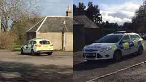Cordon: Police at scene.