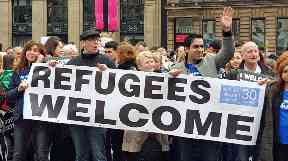 Glasgow: Pro-refugee demonstration (file pic).