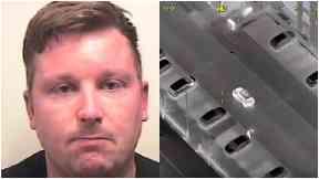 Gangster: Mark Richardson fled in a black Mini.