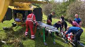 Rescue: Injured man's leg 'crushed' by quad bike.