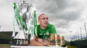 Scott Brown poses with his Player of the Year award.