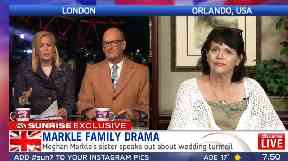 Speaking from her home in Orlando, Florida, Ms Markle confirmed her father's health problems.