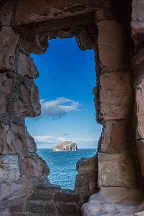 The Bass Rock Lighthouse on Bass Rock is a 20-metre lighthouse, built in 1902 by David Stevenson.