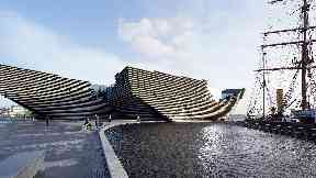 V&A: The museum was designed by Kengo Kuma.