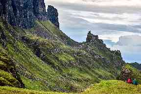 The Quiraing is a landslip on the eastern face of Meall na Suiramach.