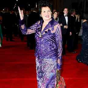 Gayson arriving for the Royal World premiere of Skyfall.