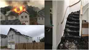 Devastated: Frank Malcolm was at home when lightning struck.