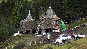 Glencoe: Filming of Harry Potter: Prisoner of Azkaban in 2003 (file pic).
