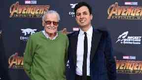 Stan Lee and Keya Morgan.
