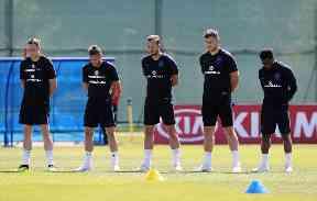 England team hold minute's silence.