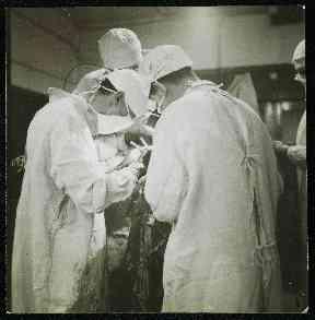 A neurology operation under way.
