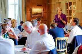 David Davis takes notes as the Prime Minister speaks
