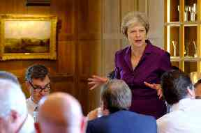 Theresa May at the Chequers meeting on Friday