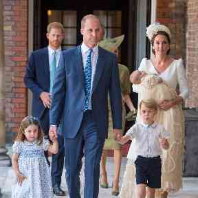 Prince Louis wore a replica of the Royal Christening Robe which was made in 1841 for the christening of Queen Victoria's eldest daughter.