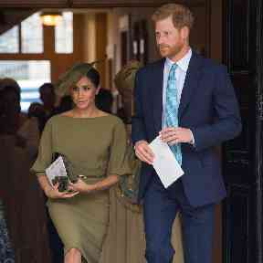 Newlyweds Meghan and Harry were also in attendance.