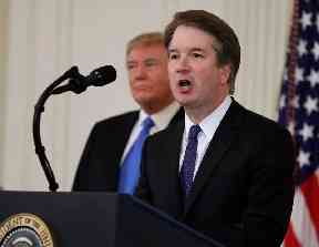 Brett Kavanaugh, the president's Supreme Court nominee, speaks the East Room of the White House