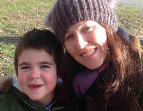 Alfie Deacon with his mother Hannah
