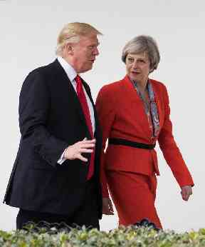 Theresa May will press Donald Trump on Russian relations