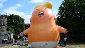 The Trump baby blimp will fly near Parliament during the US president's visit to the UK.