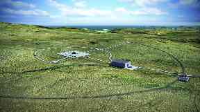 Space: Artist's impression of site.