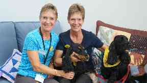 Jennifer and Ruth have been volunteering with dogs Maddie and Morgan for 18 months.
