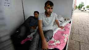 Asylum seekers: Rahman and Mirwais went on hunger strike to protest evictions.