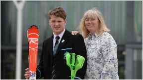 Proud: Ross with mum Wilma.