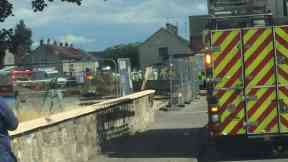 Fife: Man's leg trapped in substance. (Fife Jammer Locations)