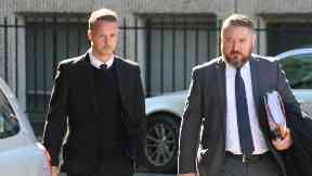 Leigh Griffiths arrives at court for Thursday's hearing.