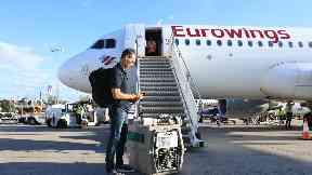 Airport: Tanami arrived in Edinburgh on Thursday.