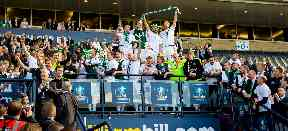 Glory glory: Hibs won their first Scottish cup in over a century.